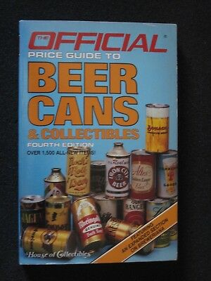 Official Price Guide To Beer Cans & Collectibles - House Of Collectibles - 1986