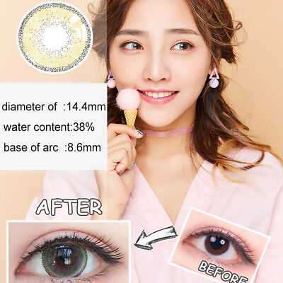 1Pc Colored Big Eyes Circle Makeup Contact Lense Party Decoration Gift Commode