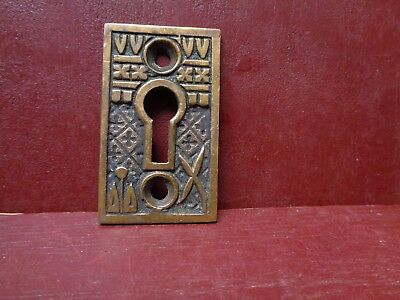 Antique Large Cast Brass Keyhole Covers More Available #6