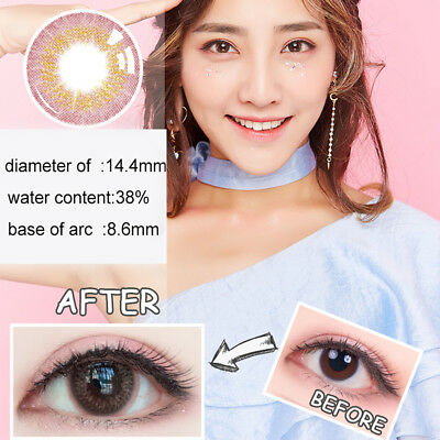 1Pc Colored Round Big Eyes Circle Makeup Contact Lense Decoration Gift Con Clase