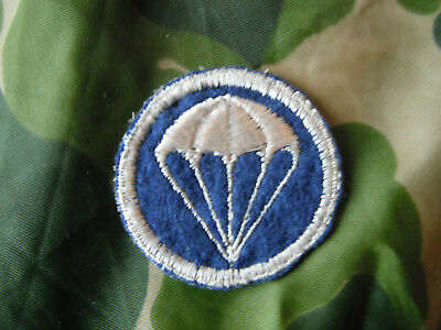 WW2 AIRBORNE 504th PARACHUTE INF REGT Officer EARLY CAP PATCH From NAMED GROUP