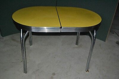 Formica Chrome Kitchen Table Vintage Mid Century Modern Vintage Retro