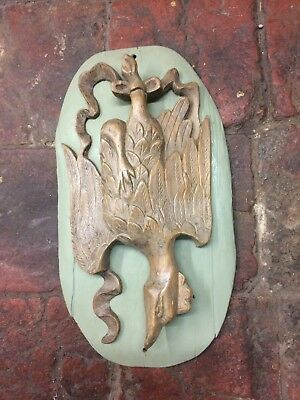 Antique 18th century fruitwood carving of hanging Bird/Fowl, Not Oak