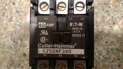 Cutler-Hammer C25DNF340 Series C1, 40 AMP Contractor FAST FREE SHIPPING!!!