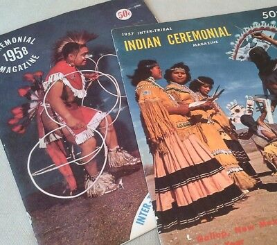 Lot of 2 Inter-tribal Indian Ceremonial Magazine, Official Program 1957, 1958