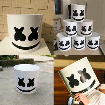 DJ Marshmello Mask Cosplay Costume Accessory Helmet for Halloween Party Props W