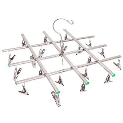 Laundry Hanger Windproof 20 Clothespin Collapsible Clothes Peg Home Hanging Rack