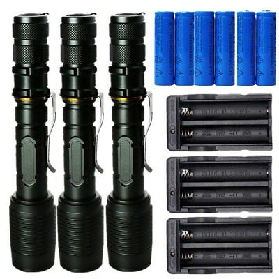 Lot 90000LM T6 Tactical  LED Flashlight Torch Lamp Rechargeable Battery Charger