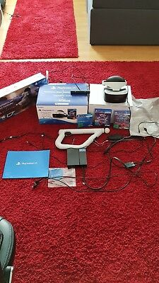 Sony PlayStation VR Brille+Kamera+Ps Aim Controller+Ps4 Vr Worlds+Battlezone Top