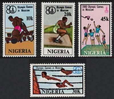 Nigeria Boxing Swimming Basketball Olympic Games Moscow 4v