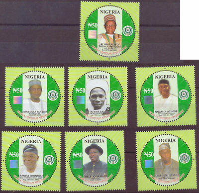 Nigeria -2014 Centenary -Civilian Presidents Holograms 7V mnh