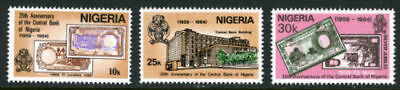 Nigeria 1984 Mnh Set Nigerian Central Bank, Building, Notes