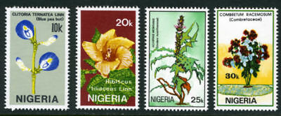 Nigeria 1987 Mnh Set Flowers