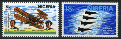 Nigeria 1978 Mnh Set 75Th Anniv. Of Powered Flight