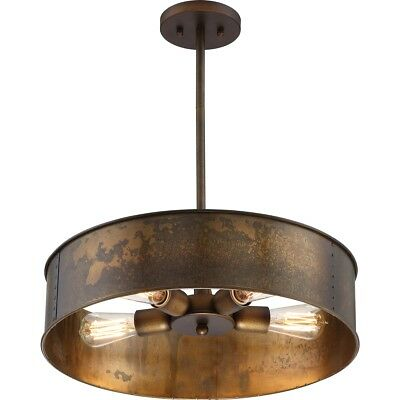 Nuvo 60-5894 Kettle 4 Light 20 inch Weathered Brass Pendant Ceiling Light
