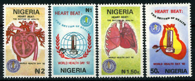 Nigeria 1992 Mnh Set World Health Day