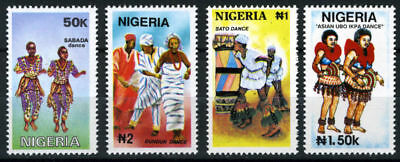 Nigeria Mnh Set Traditional Dances 1992