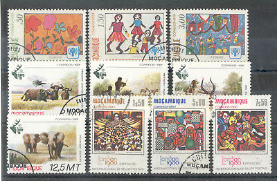 Mozambique - Small Selection of used Stamps Years 1979 - 1981