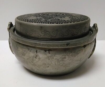 Antique Chinese Metal Hand Warmer Incense Burner