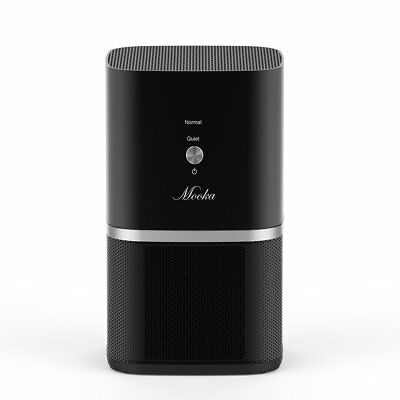 Mooka Air Purifier Desktop Air Filtration with True HEPA Filter Compact Home ...