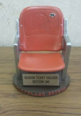 Cleveland Browns Stadium Seat Replica Ticket Gift Joe Thomas Baker Mayfield RARE