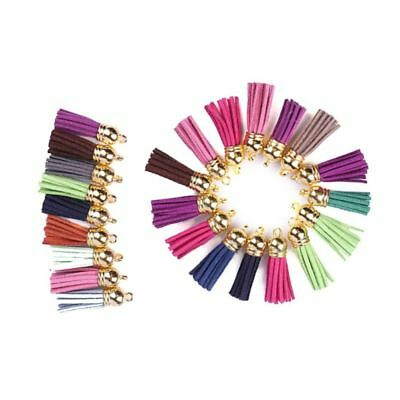 100pcs 4cm Suede Tassel Leather Tassels for Bags Cellphone Necklace