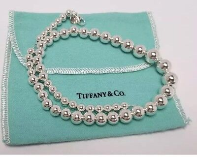 Tiffany & Co. Sterling Silver Graduated Ball Bead Lady Necklace 16""