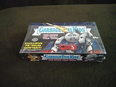 Garbage Pail Kids 2018  We Hate the 80s Sealed Hobby Collectors Box!