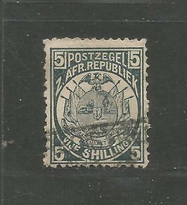 Transvaal 1885 - 1893 Perforation 12 1/2 x 12 - 5 Shilling slate - see scans