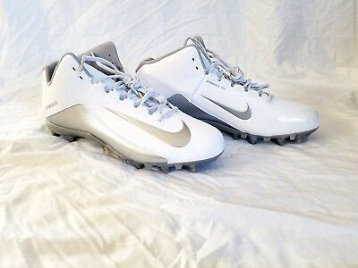 Nike Speedlax 5 Womens Lacrosse Cleats Size 12 White Wolf Grey NEW 807158-100