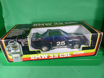 vintage 1970's 1:16 Daishin Japan BMW 3.5 CSL  RC Modell in Box - Ferngesteuert