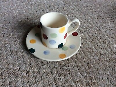Emma Bridgewater Mini Baby Cup and Saucer 25 years First Quality