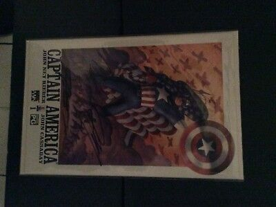Captain America #1 Signed by writer and artist Reiber and Cassaday