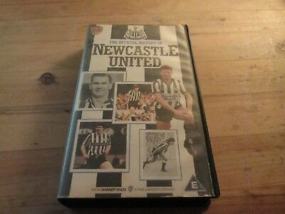 Newcastle United Official History VHS Cassette  1990 Narrated By Roger Tames