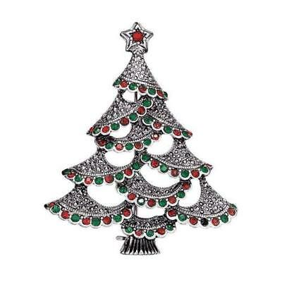 NEW! Avon 2018 Holiday Collectible Christmas Tree Pin - Silvertone, nice gift!