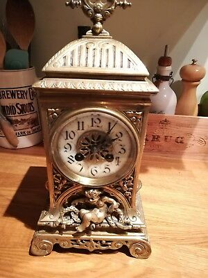 Antique French Baroque Mantel Clock