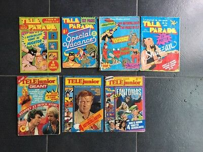 Lot 12 Téléjunior Téléparade  Inclus Télé Junior Géant N1 Sticker Géant Mightor
