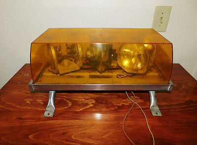 Vintage Amber Beacon Light Code 3 by Public Safety Equipment, Inc.