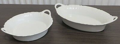 2 Lovely West German Kaiser dishes with handles, lovely condition