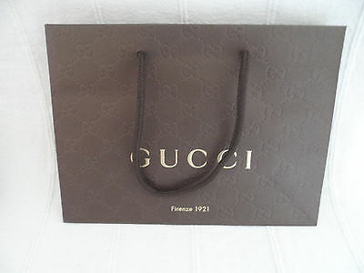 1 x 1000% GENUINE NEW GUCCI PAPER SHOPPING/ STORE/GIFT BAG..BRAND NEW & UNUSED!!