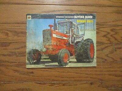1969 International Harvester Buyers Guide..4156 4-Wd..1256 Turbo..combine..plows