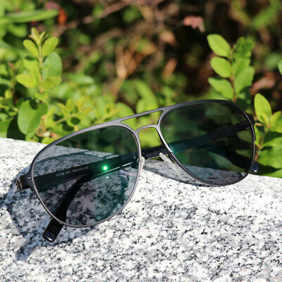 Vintage Bifocal Reading Glasses Transition Photochromic Aviator Sunglasses Metal