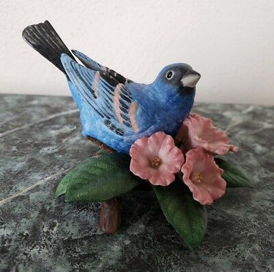 Lenox Blue Grosbeak Fine Porcelain Bird Figurine 1995 - Excellent