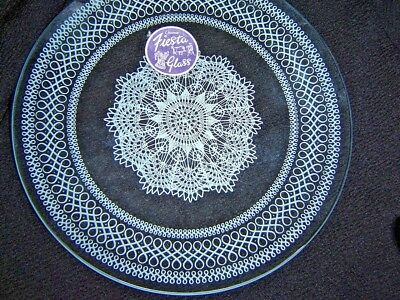 Boxed Set Of Chance Glass Fiesta Plates--Unused