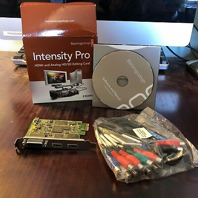Blackmagic Intensity Pro HDMI & Analog HD/SD Editing Card w/ Breakout Cable