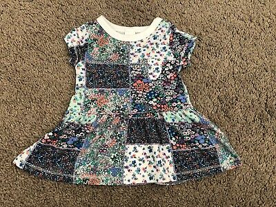BNWOT Next Baby Girl Green Blue Floral Dress 3-6 Months