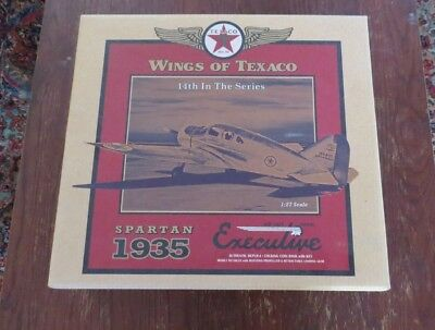 Wings of Texaco 1935 Spartan Executive Diecast Metal Coin Bank 14th in Series