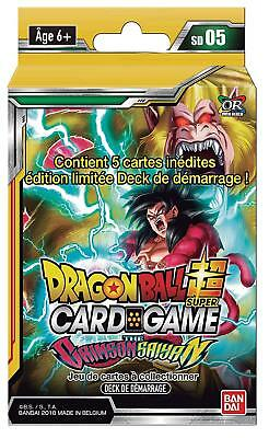 Dragon Ball Super Card Game : Deck De Démarrage Sd05 - The Crimson Saiyan - VF