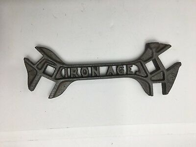 Vintage Iron Age E 39 Cut Out Farm Implement Multi Wrench Tool