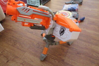 Nerf Havok Fire EBF-25 Rare White with Tripod, Tech Target and Bullets
